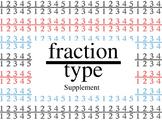 fractiontype Fraction Font - Supplement