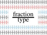 fractiontype Fraction Font