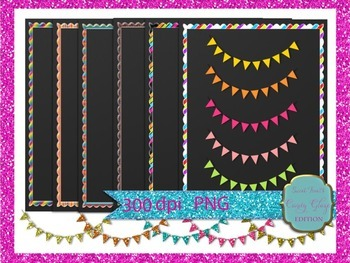 frames,buntings, borders and chalkboards (Candy Glaze Edition)