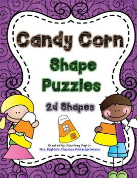 Candy Corn Shape Puzzles