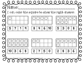 Fall Count and Clip Numerals 1-10