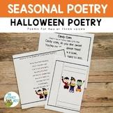 Halloween Poetry, Halloween Themed Poems, Fluency Practice
