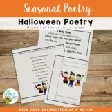 Halloween Themed Poetry and Fluency Practice