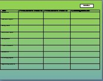 free Back to school classroom management table