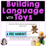 free Increase Your Child's Language with Toys and Play