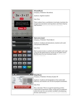 free: Math Assistive Technology: iOS Apps for math education