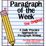 Paragraph of the Week Freebie | Paragraph Writing Sample