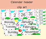 free download calender set clipart