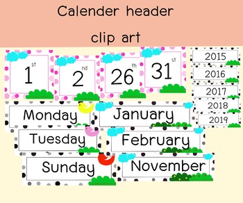 free download calender set clipart