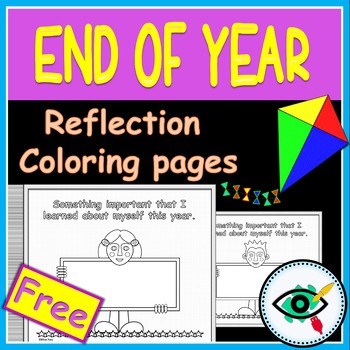 End of year activity reflection coloring pages Free