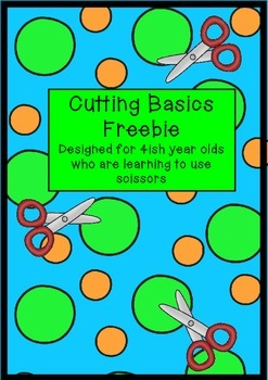freebie LEARNING TO USE SCISSORS learning to cut mini pack