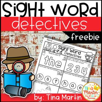 freebie Sight Word Printables (Detective theme)