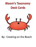 freebie bloom's desk charts and questioning cards