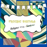 Thursday Freebie digital papers. Stripes and shapes