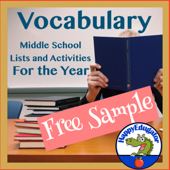 Vocabulary - Vocabulary Lists, Activities, and Tests for a Year Free Sample