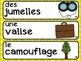 French Word Wall / Le Détective