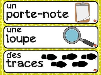 French Word Wall / Le Mot du jour / Mots fréquents / Mots d'action