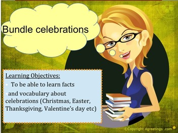 french bundle - all year celebrations, powerpoints