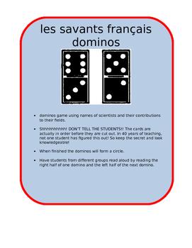 french scientist dominos