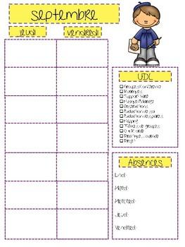 French Teacher Planner