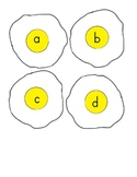 fried egg ABC game lowercase letters