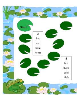 frog word race