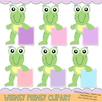 frogs with Blank Sign