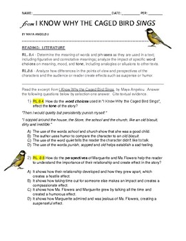 from I Know Why the Caged Bird Sings-8th Gr. Reading: Tone, Effect RL.8.4, 8.6