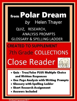 from POLAR DREAM by Helen Thayer Quiz and Activities