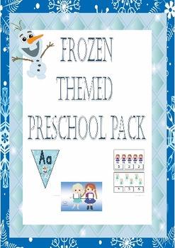 frozen princess themed preschool/ prek learning pack, engl