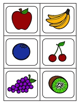 fruit picture cards