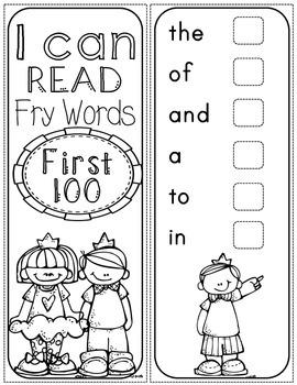fry sight word sticker book - first 100 fry words