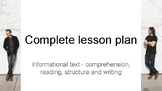 full lesson plan!!!!!! informational text