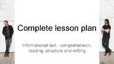 complete lesson plan - informational text - minimalism - netflix