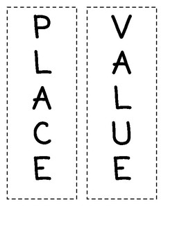 fun place value folder activity