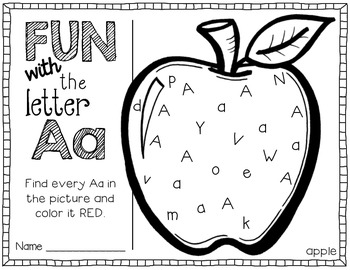 Fun with Letters A-Z {Printables}