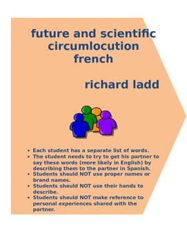 future and scientific circumlocution FRENCH