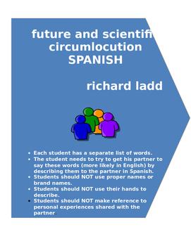 future and scientific circumlocution SPANISH