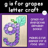 g is for grapes Letter Craft