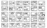 gabarit - patron pour imprimer sur des post-it (cahier de planification)