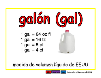 gallon/galon meas 2-way blue/rojo