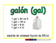 gallon/galon meas 2-way blue/verde