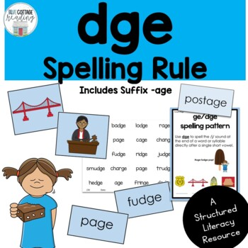 Gedge Spelling Rule Pack By Blue Cottage Reading Tpt
