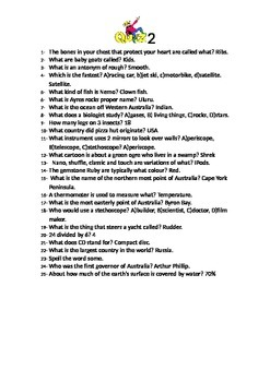 general knowledge quiz 2