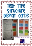 genre/text type structure display cards for the writing forms