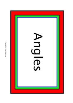 geometry - LINES AND ANGLES WORD WALL - vocabulary