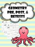 geometry pre, post, and retests
