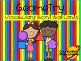 geometry vocabulary word wall cards 2D and 3D shapes