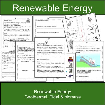 Geothermal, Tidal, Biomass, and Hydroelectric Energy: Rene