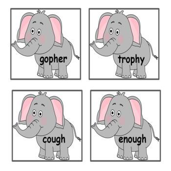 PH GH   /f/   Consonant Digraphs Word Work